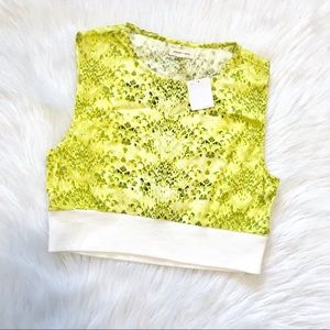 NWT • UO Silence + Noise Yellow Snake Crop Top